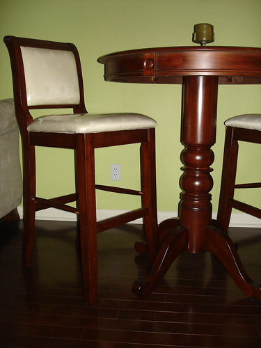 Mahogany Pub Table and Chairs