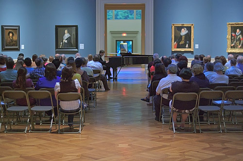 Piano recital, at the Saint Louis Art Museum, in Saint Louis, Missouri, USA