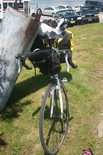 Loaded Bike off the Ferry