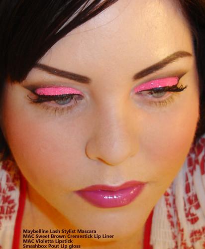 Neon Pink Glitter Eye shadow
