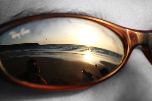 Reflejo sobre Gafas de Sol