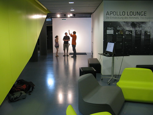 Our exhibition space seen from the right side by you.