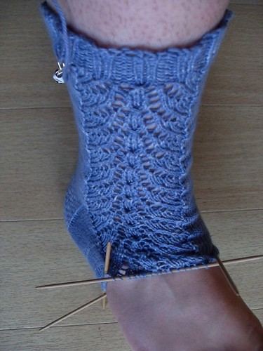 Bluerose socks WIP