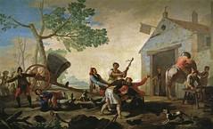 Goya 1777 - The Quarrel in the New Tavern (petrus.agricola) Tags: madrid new portrait dog chien cane museum del high francisco y picture muse perro hund tavern resolution prado museo nacional goya quarrel lucientes