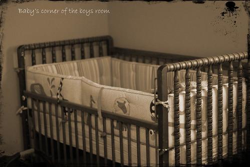 W's bed_B&W