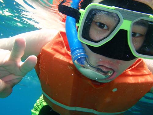 你拍攝的 【μ8000】浮潛。