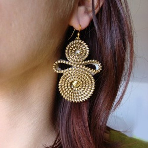 Silviasthink zipper earring