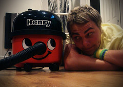 035 Mk2 // Henry & Me (Wild snapper) Tags: red portrait dan home smile self happy floor vacuum days henry hoover 365 cleaner 365days flickr365 wecontinue