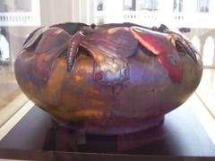 Art Nouveau vase by Vilmos Zsolnay (hartjeff12) Tags: butterfly hungary budapest artnouveau vase museumofappliedarts vilmoszsolnay
