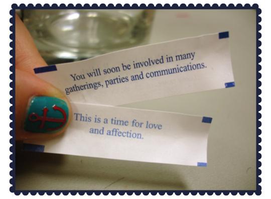 My fortune...