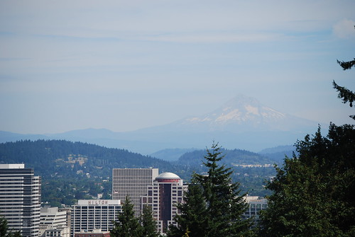 Downtown Portland and Mt. Hood