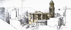 Mlaga, cathedral from fortress (Luis_Ruiz) Tags: architecture sketch spain cathedral drawing catedral andalucia baroque andalusia dibujo malaga renaissance mlaga barroco carnetdevoyage renacimiento urbansketchers