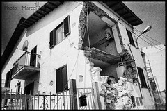 Paganica - Earthquake aftermath- April 2009 (marco/restano) Tags: cityscape madeinitaly blackwhitephotos port5 port9