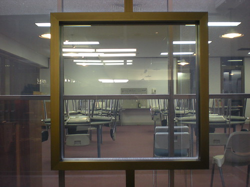 Empty Classroom by mikecogh, on Flickr