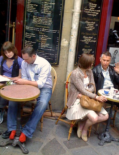 Pictures Of Paris Cafes. Paris Cafes. Red socks are in