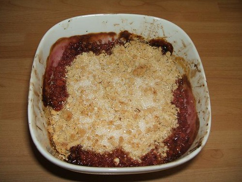Apple and Damson crumble