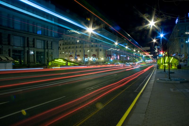 Night Minsk. Belarus