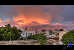 Cit Vauvert Sunset (jsnowy2768) Tags: africa pink sunset storm reflection rain clouds evening wind senegal lightening saintlouis thunder hdr rainyseason citvauvert