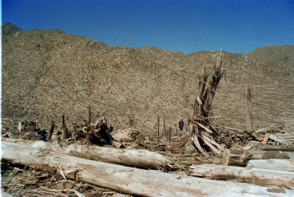 Mount St. Helens circa 1983.
