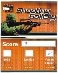 Shooting Gallery Score Card