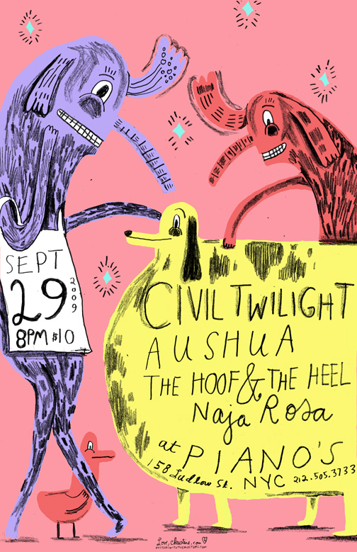 The Hoof and The Heel at PIANOS NYC POSTER
