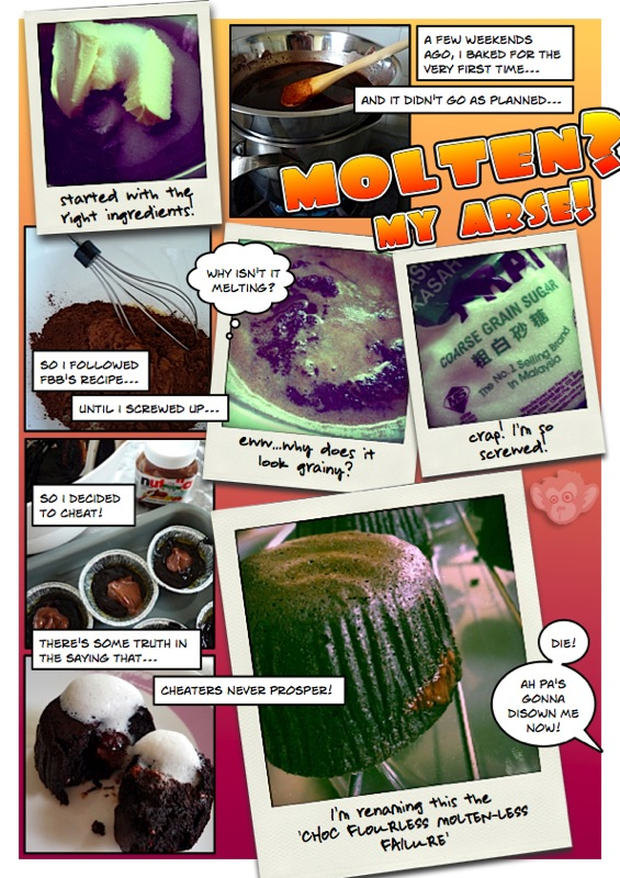 Molten-less Choc Cake