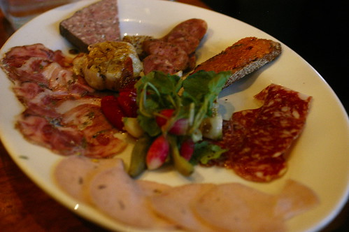 antipasti platter at Incanto