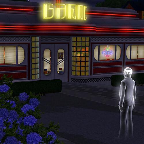 Cornelius visits the diner