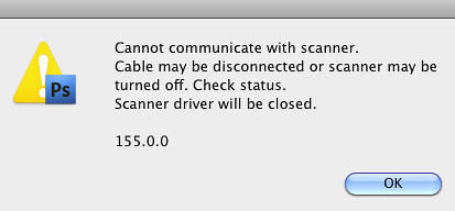 Canon 4400F scanner not recognized