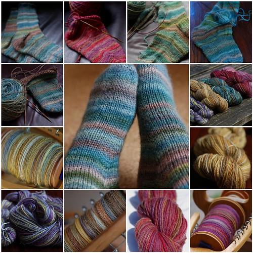 A summer of spinning for socks