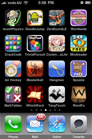 My iPhone Apps - Pg 3 - Games to amuse me and the kids
