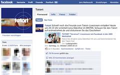 Tatort-Seite bei Facebook