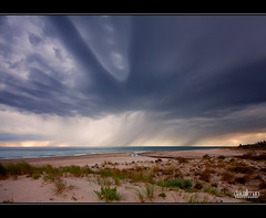 So much for Summer.......... (Dale Allman) Tags: ocean storm rain clouds canon sand australia wideangle explore adelaide southaustralia frontpage 1740 sanddunes henleybeach vertorama canon5dmkii 5dmkii