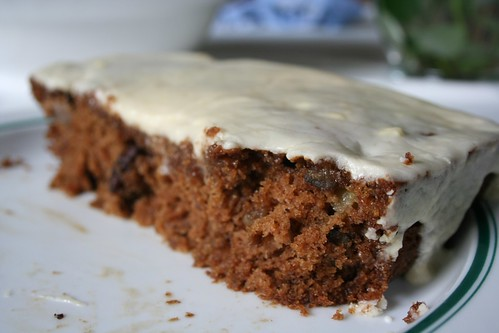 Half-eaten Apple Spice Cake
