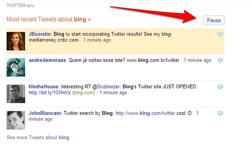 Bing Twitter Search