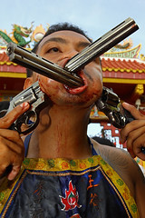 357  Magnum (Bertrand Linet) Tags: mouth thailand crazy scary gun smith piercing guns revolver phuket 357 thaifestival chinesefestival smithwesson wesson vegetarianfestival thailandphuket 357magnum crazypicture thailandfestival 357magnumrevolver python357magnum vegetarianfestivalphuket 357magnumgun crazyfestival bertrandlinet dodgypicture 357magnumamno 357magnumbullet 357magnumsmithandwesson 357magnumsmithwesson 357magnumrifle