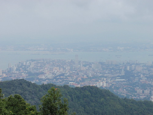 The view from the top of Penang Hill