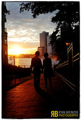 What Lies Ahead (Ryan Brenizer) Tags: nyc newyorkcity wedding sunset love silhouette brooklyn engagement nikon brooklynheights gothamist d3 brooklynpromenade sigma50mmf14dc colleenandseve