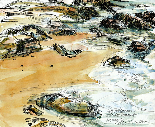Brittany, Locmaria beach, late afternoon
