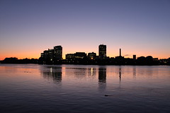 Gatineau Skyline at Sunset (Leonid Sirota) Tags: sunset ottawa gatineau ottawariver
