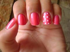 Tentativa #FAIL de poá (p.motta) Tags: pink fluor risqué esmalte poá