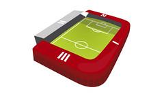 Le Stade de Sclessin Map Stadio Liegi Mappa