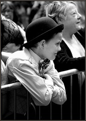 Boy in bowler hat (* RICHARD M (Over 6 million views)) Tags: candid street portraits portraiture candidportraits candidportraiture streetportraits streetportraiture mono blackwhite bowler bowlerhat boyinbowlerhat smiles happiness happy liverpoolpride lgbt liverpool merseyside capitalofculture europeancapitalofculture liverpudlians scousers enthralled captivated spellbound fascinated fascination bowtie foldedarms characters expressions