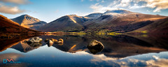Morning Light on Scafell Pike (Dave Massey Photography) Tags: scafellpike wastwater wasdale reflection lake lakedistrict greatgable lingmell cumbria winter landscape tranquil serene
