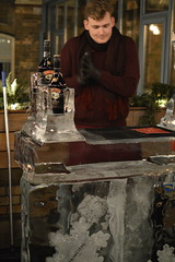 Bartender at the Ice Bar, The Principal (CoasterMadMatt) Tags: york2016 york cityofyork icesculpturetrail2016 icesculpturetrail yorkicesculpturetrail2016 yorksicesculpturetrail ice sculpture trail sculptures art icebar bar theprincipal principal no2 number2 bartender illuminated illumination litup lights atnight city cities englishcities yorkshire yorks england britain greatbritain gb unitedkingdom uk december2016 autumn2016 december autumn 2016 coastermadmattphotography coastermadmatt photos photographs nikond3200