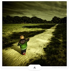 Chap Ahead (Gert van Duinen) Tags: tree field landscape countryside path digitalart littleboy landschaft 2009 dreamcatcher landschap dutchartist littlechap landschaftsaufnahme infinestyle cresk theunforgettablepictures sonofmine gertvanduinen alwaysexc saariysqualitypictures obramaestra