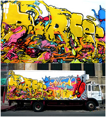 By HORF, SAEIO (Thias (-)) Tags: streetart paris wall truck painting graffiti mural spray camion 1984 painter van graff aerosol bombing horf orf horph frenchgraff saeio