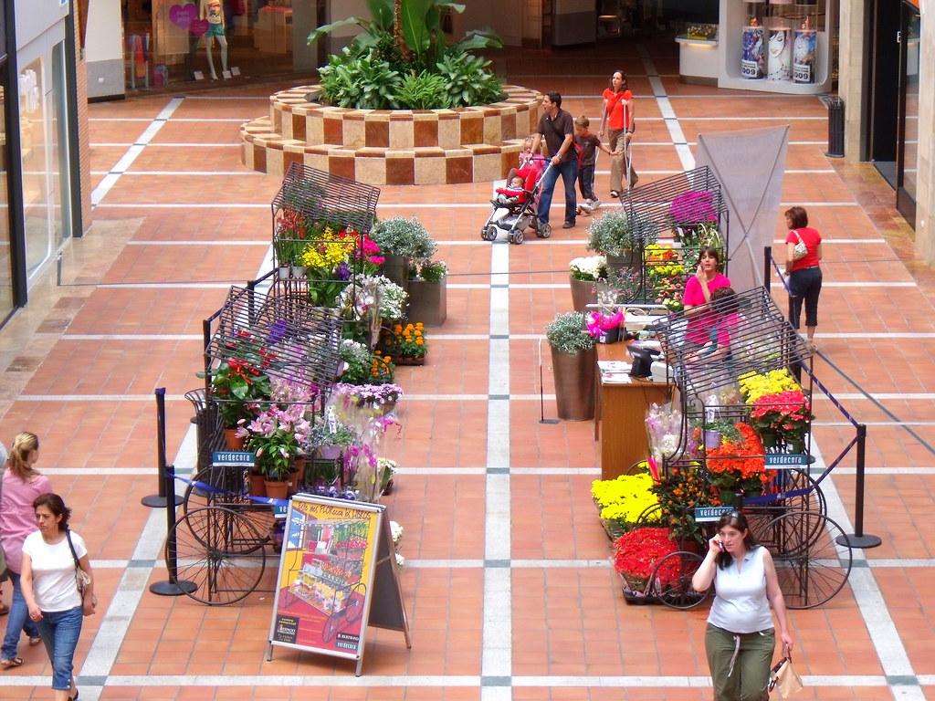 Primavera en el centro comercial