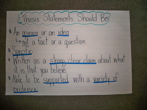 teaching thesis statements for research papers