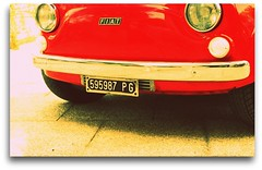 looks like a happy face!!.. (carlini.sonia ) Tags: red fiat antica 500 sonia rosso fiat500 mitica 500fiat